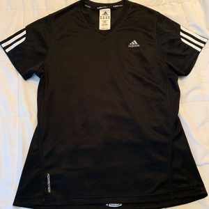 Women's black adidas jersey top